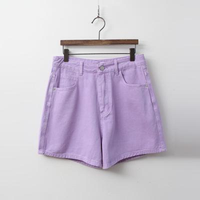 Color Denim Shorts