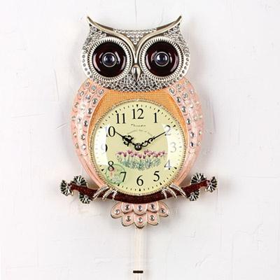 (kpl003) 샤인 부엉이 단면시계 G 핑크 (저소음)