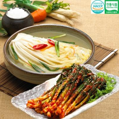 전통식품인증 웰쉐프 백김치 3kg+파김치 3kg