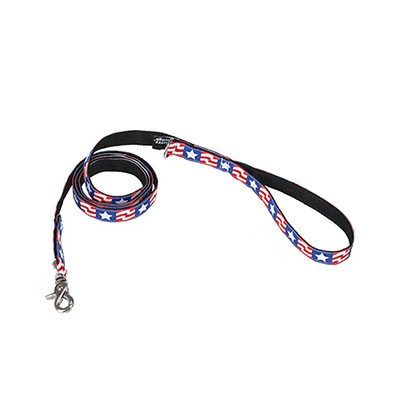 the American flag jacquard ribbon lead
