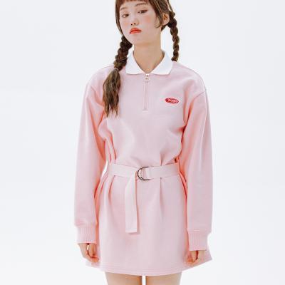 데이라이프 카라 벨트 원피스 (핑크)