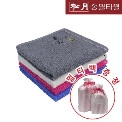 송월 스누피 라인핸드 고리타올5장+멀티백