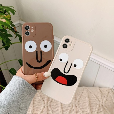 아이폰12 미니 11 pro max 코믹 웃는얼굴 젤리 케이스