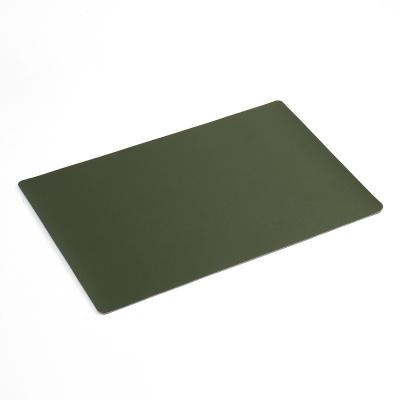 모던 양면 가죽 테이블매트 다크그린 식탁패드