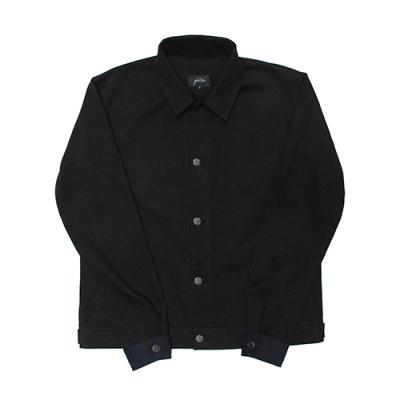 [게타] Standard collar short jacket Black