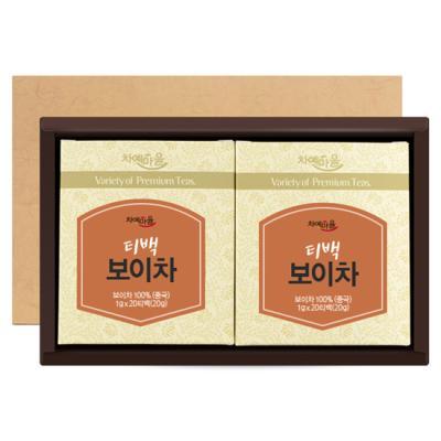 차예마을 티백 보이차 40티백 선물세트 어린이집 스승의날 선물 차선물세트
