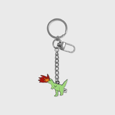 Fire dinosaur(금속 키링)