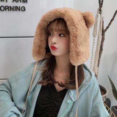 링치 겨울 곰돌이 방울 털모자 방한 모자