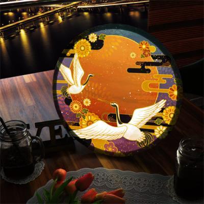 ne873-LED액자35R_풍수명예권세의상징두루미