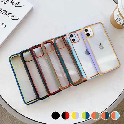 P539 아이폰11 투톤 컬러 클리어 커버 하드 케이스