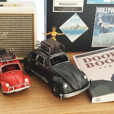 클래식 철제 자동차 비틀 - 블랙