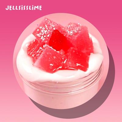 [젤시스슬라임] 생딸기라떼 / 글루올+스펀지 / 230ml