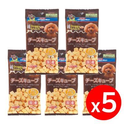 도기맨 스낵밸류 치즈 큐브 60g X 5개 강아지간식