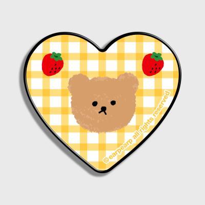 Dot strawberry check-yellow(하트톡)