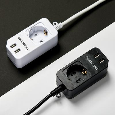 아이정 1구 USB 멀티탭 네모코드 2.1M