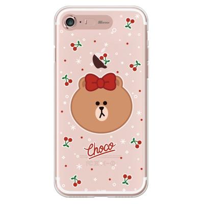 라인프렌즈 iPhone7 8 CHOCO Cherry LIGHT CASE