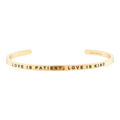 [만트라뱅글] LOVE IS PATIENT, LOVE IS KIND - 골드
