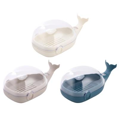 고래 뚜껑있는 비누케이스