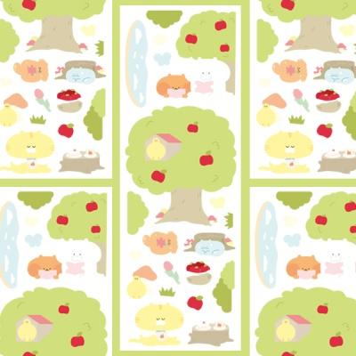 사과나무 씰 스티커