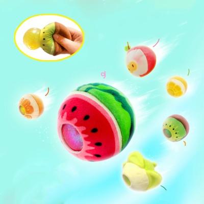 풍선 부는 버블 말랑이 과일 인형 스퀴시 팝잇 장난감