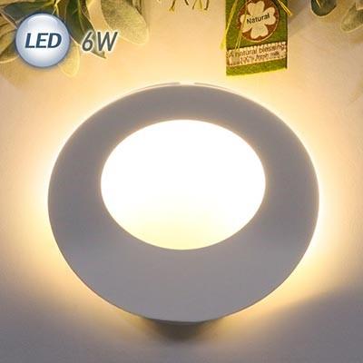 LED 링 간접 벽등 6W (화이트)