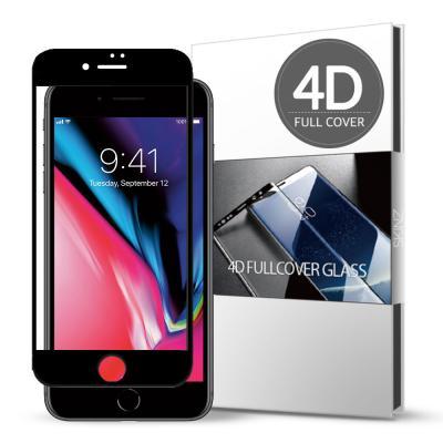 스킨즈 아이폰8 4D 풀커버 강화유리 필름 (1장)