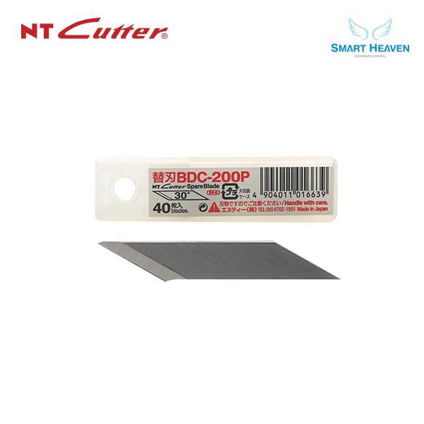 NT커터 BDC-200P 전문가용 30도 커터날 40개입