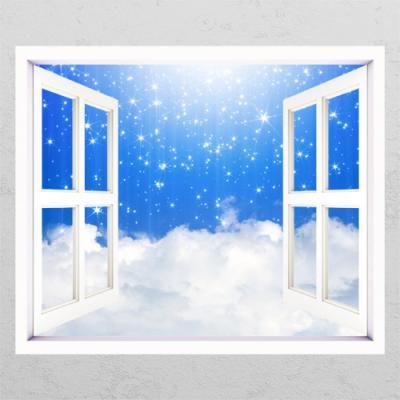 tm646-별이쏟아지는구름_창문그림액자