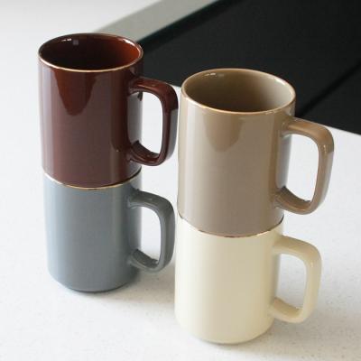 에크렌 골드 림(rim) 롱머그 - 4color