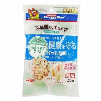 도기맨 장에 좋은 유산균 큐브(우유)120g 강아지간식