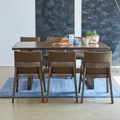 [리비니아]맥스 코지 고무나무원목 6인용 식탁세트