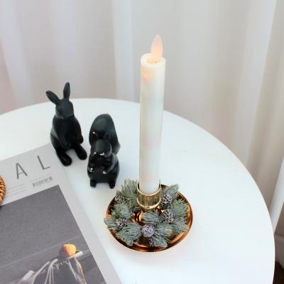 이너스 LED캔들 긴 막대초+촛대 소