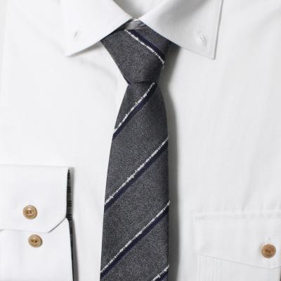남자 자동 면접 넥타이 (그레이 스트라이프)