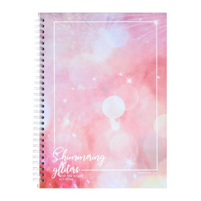 포포팬시 글리터 홀로그램 노트 핑크