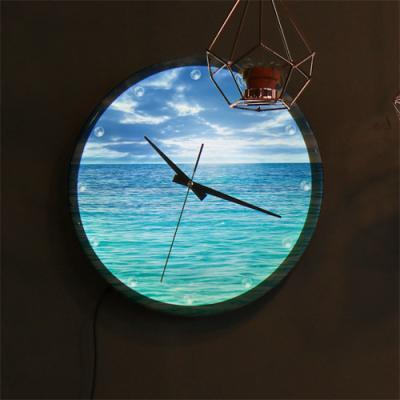 nf234-LED시계액자35R_푸른바다와지평선