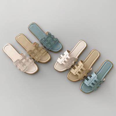 여성 컬러 캐주얼 스트랩 슬리퍼 ws-3239 베어핀