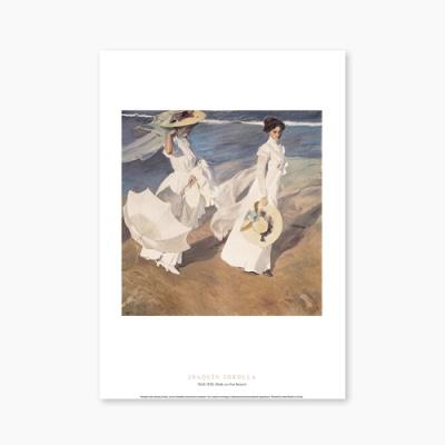 명화 포스터 갤러리 액자 002 Joaquin Sorolla Walk on the Beach