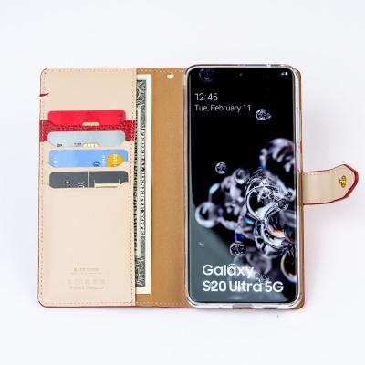 스매스 아이폰XS MAX 엠보 스냅 지갑형 케이스 버튼