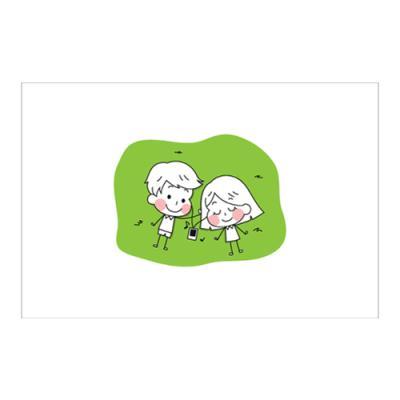 왈가닥스 러블리 포스트카드 엽서 - music