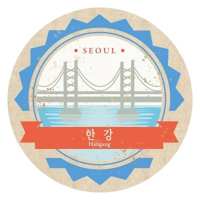 [한국폼텍] 서울을 홍보하자~My Sticker 캐리어 스티거-한강 2매/입 MS-1004