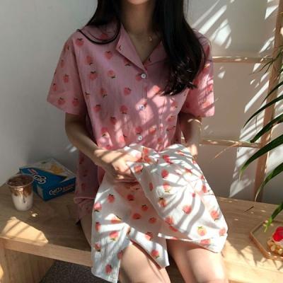 딸기 여름 잠옷 파자마파티