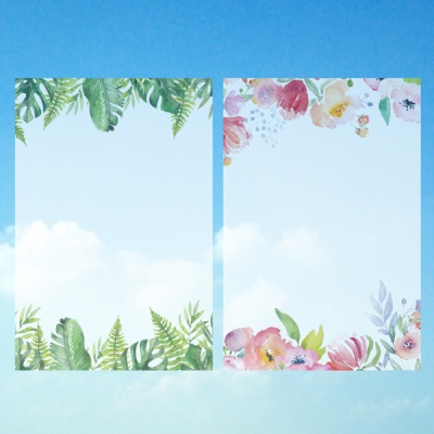 투명그림엽서-자연(2종 택1)