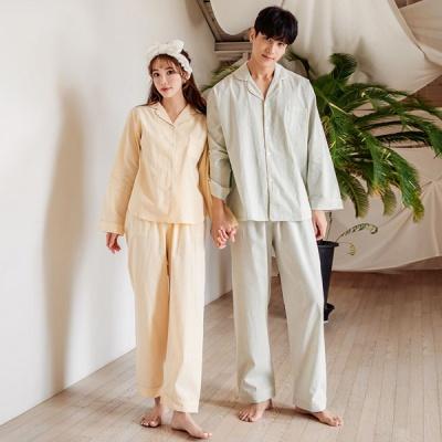 [쿠비카]모던 워싱 코튼 포켓 투피스 커플잠옷 WM244