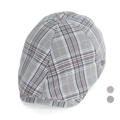 [디꾸보]글렌체크 똑딱이 조절 헌팅캡 모자 JAN356