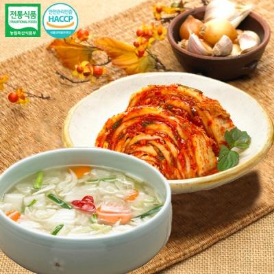[명가김치] 국내산 맛김치 3kg+나박물김치 3kg