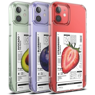 아이폰12 시리즈 투명 케이스 링케퓨전 과일 디자인