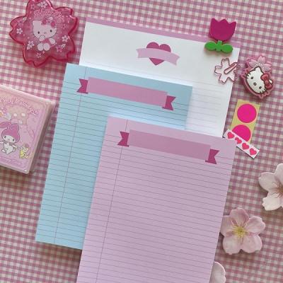 체리블라썸 핑크,민트 리본 리갈패드