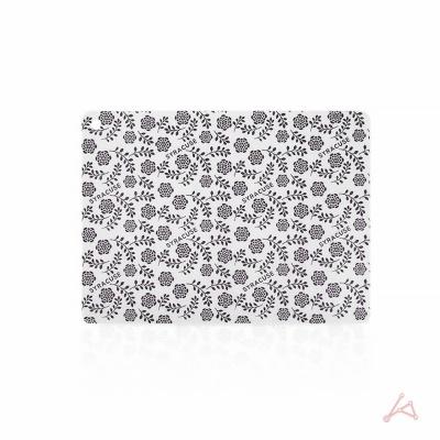 인덕션 보호매트 사각(대) 꽃 패턴 퍼플