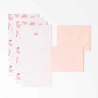 프레그런트 미니 편지지 세트 - Pink hydrangea
