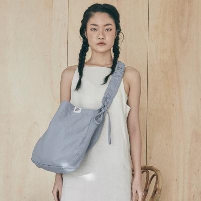 Shirring shoulder hobo bag_black
